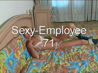 exotic looking blond shows more than a man can stand from SexyEmployee
